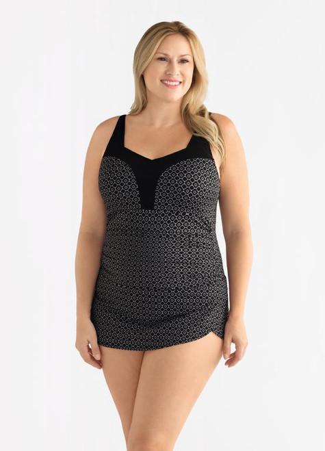 5f6870f625f Amoena 71113 Ayon Sarong Mastectomy Swim Suit - MastectomyShop.com