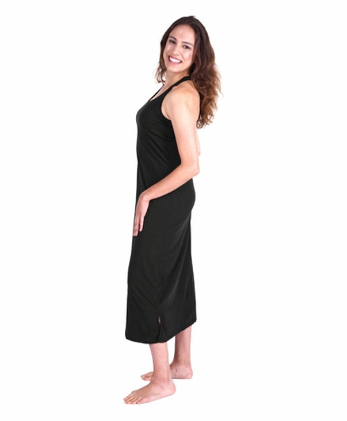 ... Cool Jams T4960 Moisture Wicking Long Racerback Tank Gown With Shelf Bra  ... 5ed300438