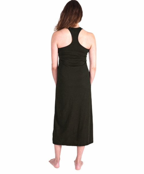 ... Cool Jams T4960 Moisture Wicking Long Racerback Tank Gown With Shelf Bra 771fd7b54