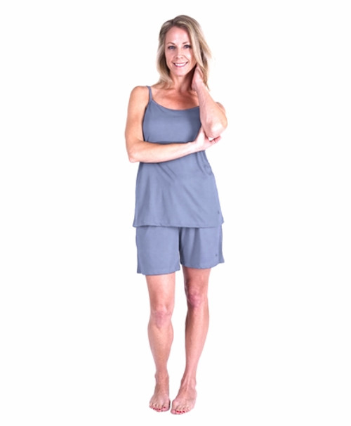 41f2de710d9 Cool Jams T3433 Moisture Wicking Cami Shorty Pajama Set With Shelf Bra