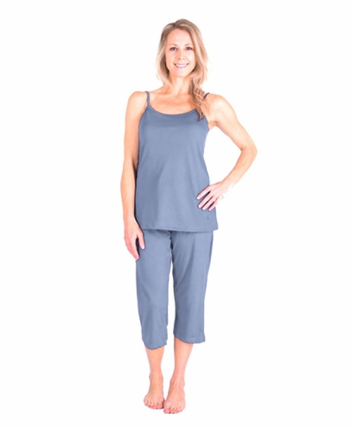 Cool Jams T3430 Moisture Wicking Cami Capri Pajama Set with Shelf ... e75be0a41