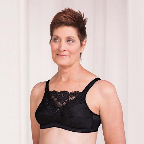 7aec9f6fd1 Trulife 4019 Jessica Cami Style Lace Accent Mastectomy Bra