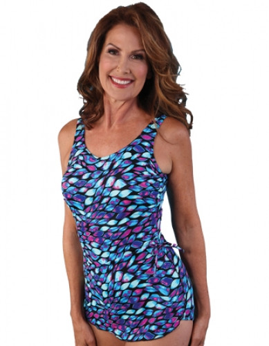 2bb777e9ca JODEE DANCING RIBBON SARONG MASTECTOMY SWIM SUIT (ALL SALES FINAL!!)