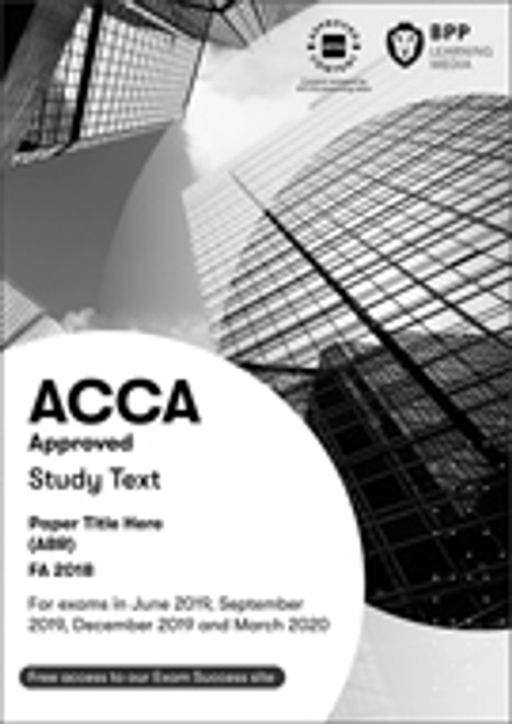 BPP ACCA MA (F2) Management Accounting/FIA FMA Interactive Text