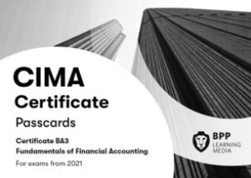 BPP CIMA BA3 Fundamentals of Financial Accounting Passcards