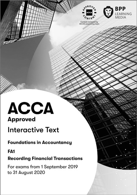 BPP FIA Recording Financial Transactions (FA1) Interactive Text