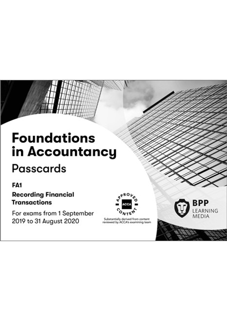 BPP FIA Recording Financial Transactions (FA1) Passcards