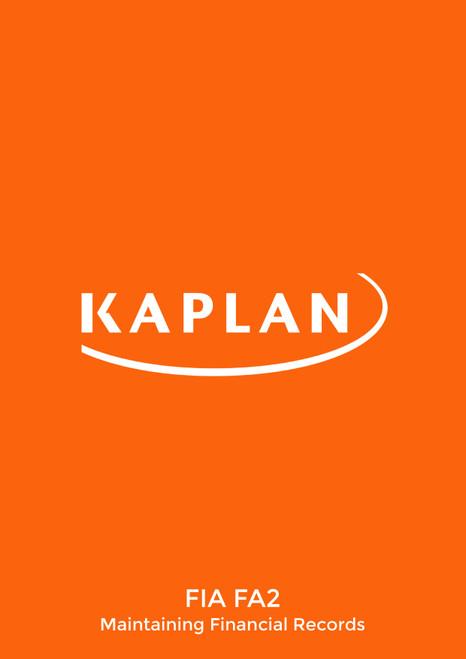 Kaplan FIA Maintaining Financial Records (FA2) Study Text