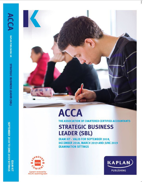 Kaplan ACCA SBL (P1 &P3) Strategic Business Leader Exam Kit