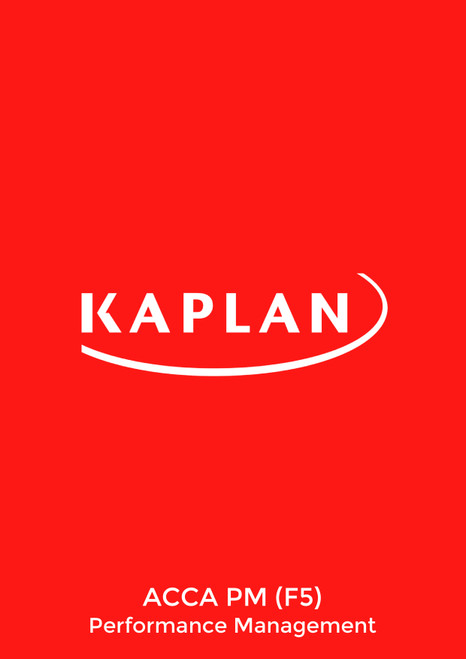 Kaplan ACCA PM (F5) Performance Management Pocket Notes