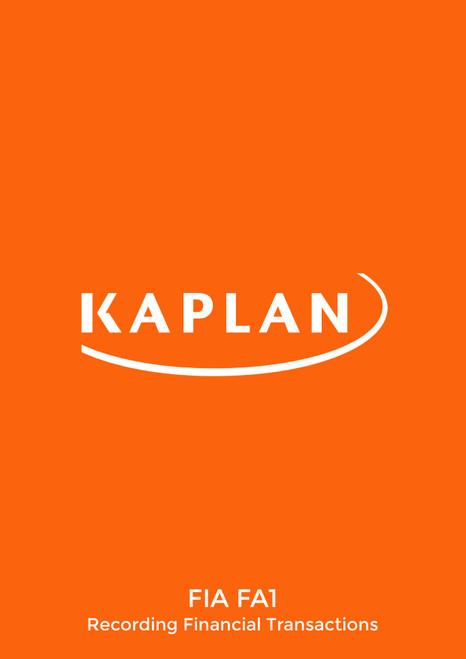 Kaplan FIA FA1 Recording Financial Transactions Study text