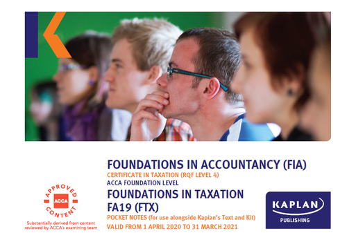 Kaplan FIA FTX Foundations in Taxation Study text
