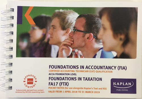 Kaplan FIA FTX Foundations in TaxationÊ FA18 Exam Practice Kit