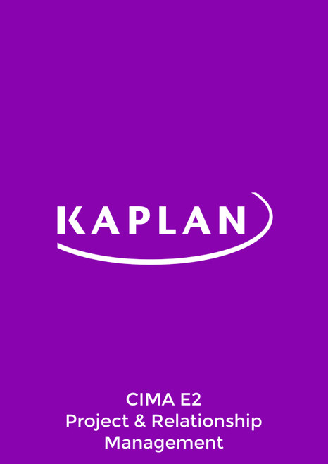Kaplan CIMA E2 Managing Performance Study Text eBook