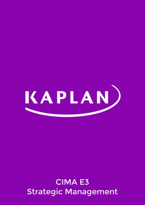 Kaplan CIMA E3 Strategic Management 2021 Exam Practice Kit eBook