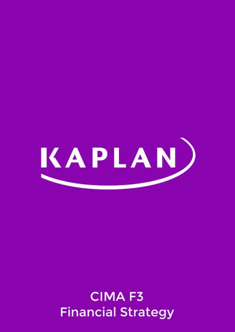 Kaplan CIMA F3 Financial Strategy 2021 Study Text eBook