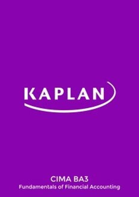 Kaplan CIMA BA3 Fundamentals of Financial Accounting Study Text e-book