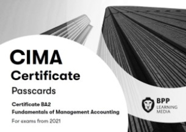 BPP CIMA BA2 Fundamentals of Management Accounting Passcards