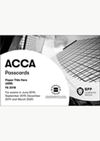 BPP FIA Foundations in Financial Management (FFM) Passcards