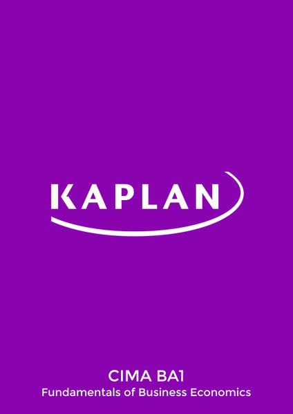 Kaplan CIMA BA1 Fundamentals of Business Economics Revision Cards