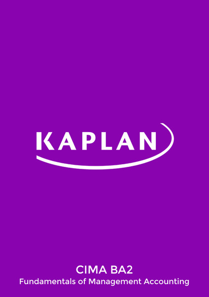 Kaplan CIMA BA2 Fundamentals of Management Accounting Revision Cards