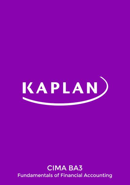 Kaplan CIMA BA3 Fundamentals of Financial Accounting Revision Cards