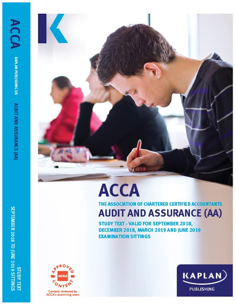 Kaplan ACCA AA (F8) Audit and Assurance Study Text