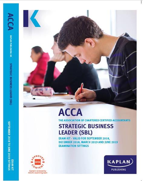 Kaplan ACCA SBL (P1 &P3) Strategic Business Leader Exam Kit