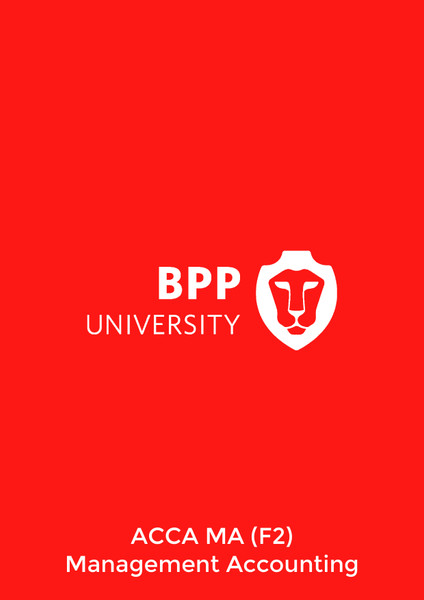 BPP ACCA MA (F2) Management Accounting Practice & Revision Kit