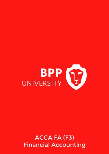 BPP ACCA FA (F3) Financial Accounting Study Text