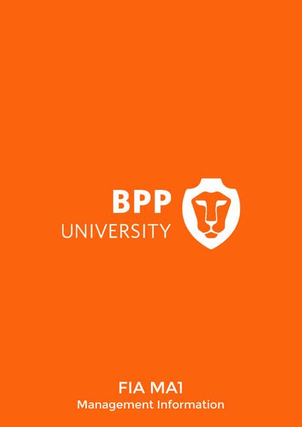 BPP FIA MA1 Management Information Practice & Revision Kit