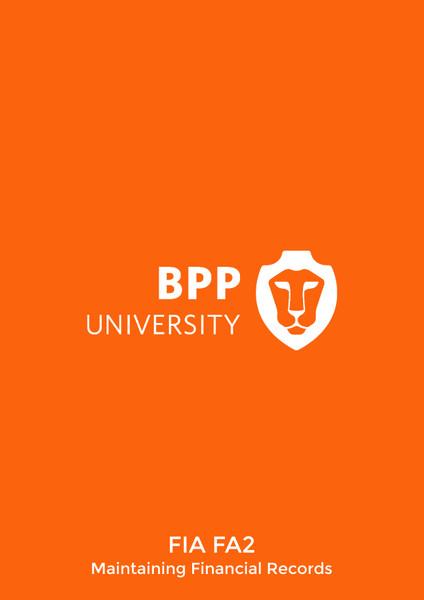 BPP FIA FA2 Maintaining Financial Records Passcards