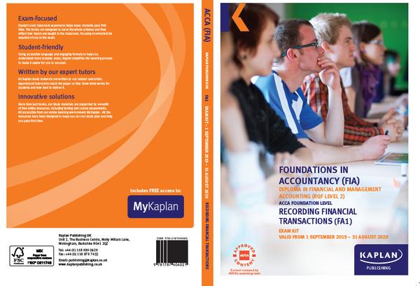 Kaplan FIA FA1 Recording Financial Transactions Exam Practice Kit