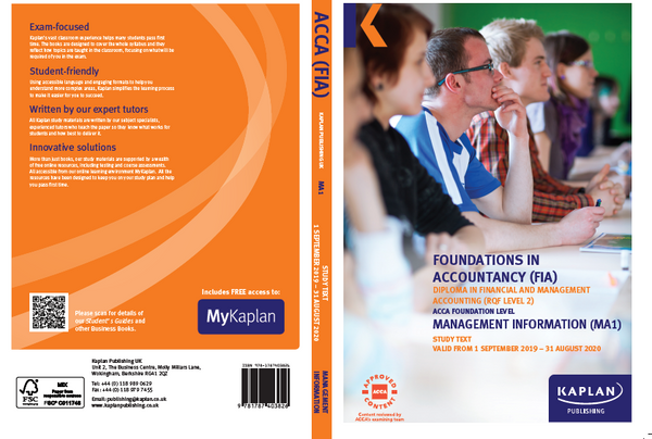 Kaplan FIA MA1 Management Information Ê Exam Practice Kit
