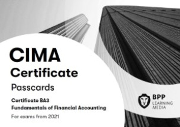 BPP CIMA BA3 Fundamentals of Financial Accounting 2021 Passcards eBook