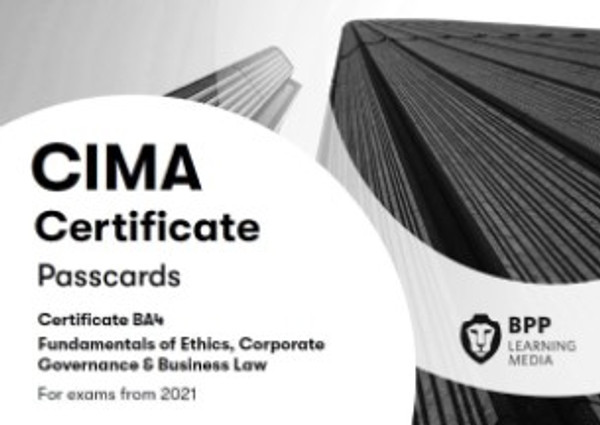 BPP CIMA BA4 Fundamentals of Ethics, Corporate Governance and Business Law Passcards eBook