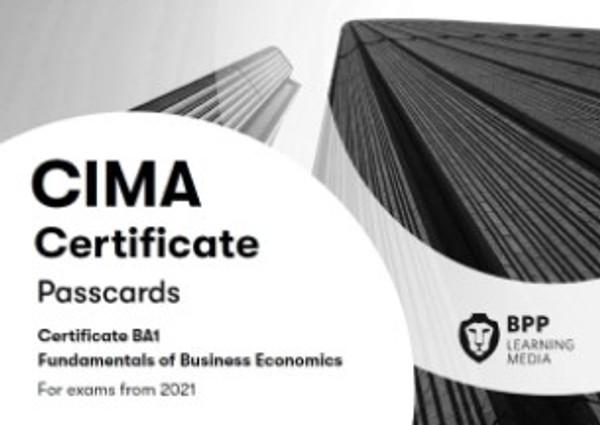 BPP CIMA BA1 Fundamentals of Business Economics Passcards eBook