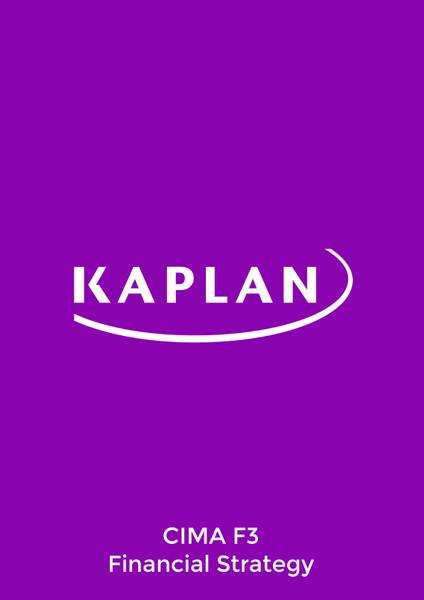 Kaplan CIMA F3 Financial Strategy Study Text eBook