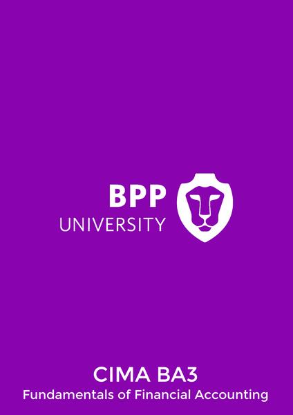 BPP CIMA BA3 Fundamentals of Financial Accounting Course Book e-book