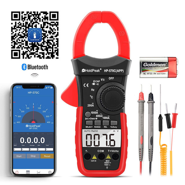 Digital Clamp Multimeter Connect with APP via Bluetooth