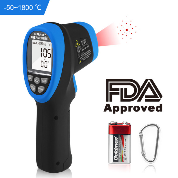 Non Contact High temperature Infrared Thermometer  -58 °F to 3272°F