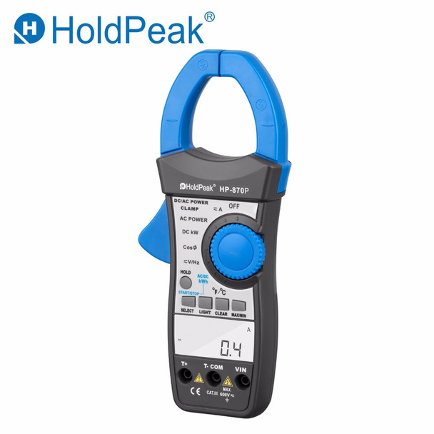 HP-870P Power Clamp Meter AC/DC Voltmeter 999.9A Ammeter