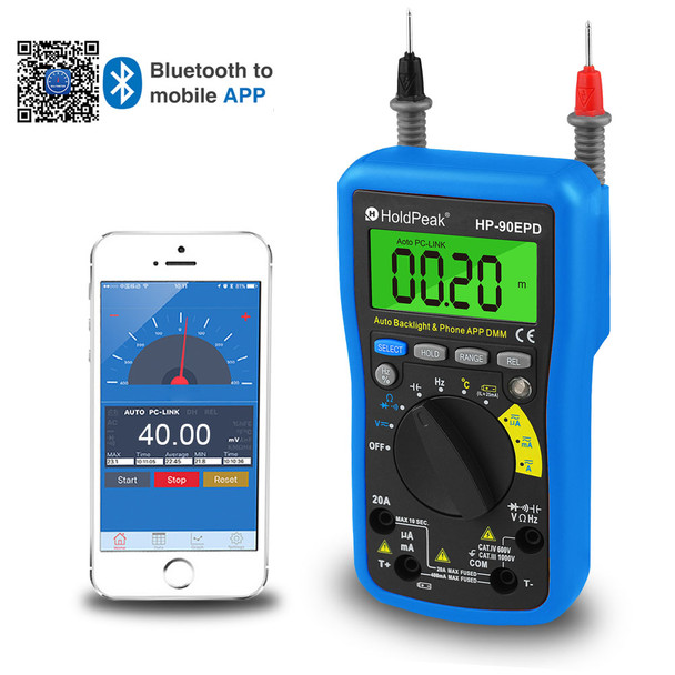 Multimeter, Multimeter Mobile APP, 4000 Counts,