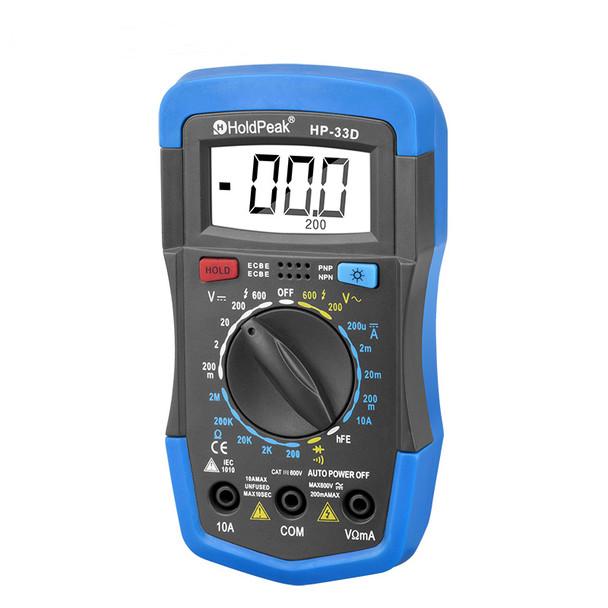 Multimeter, DC AC Voltage, Current Resistance Diode hFE Battery