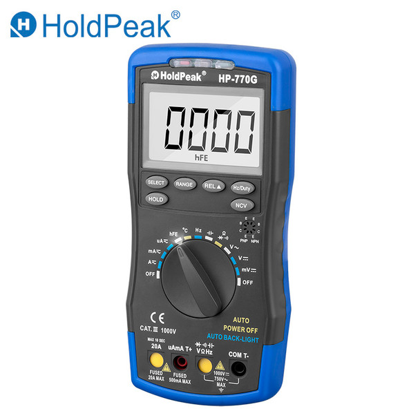 Digital Multimeter, DC AC Voltage Temperature