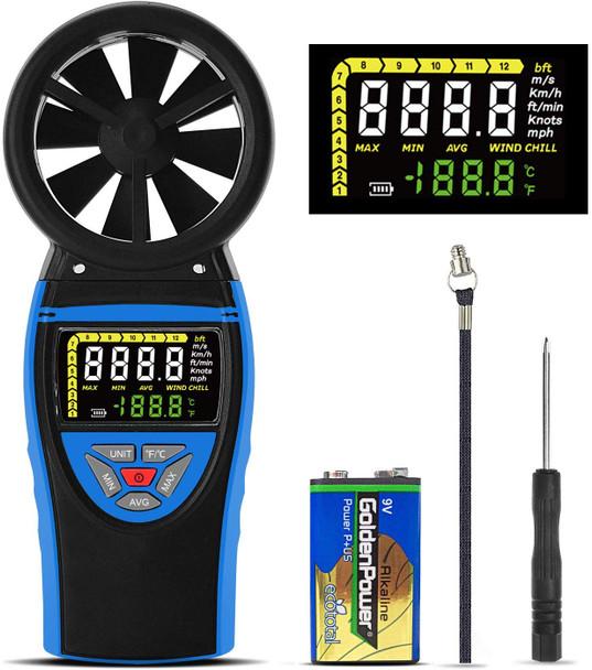 Digital Vane Anemometer, Anemometer, Wind Speed Meter, Multimeter,color screen