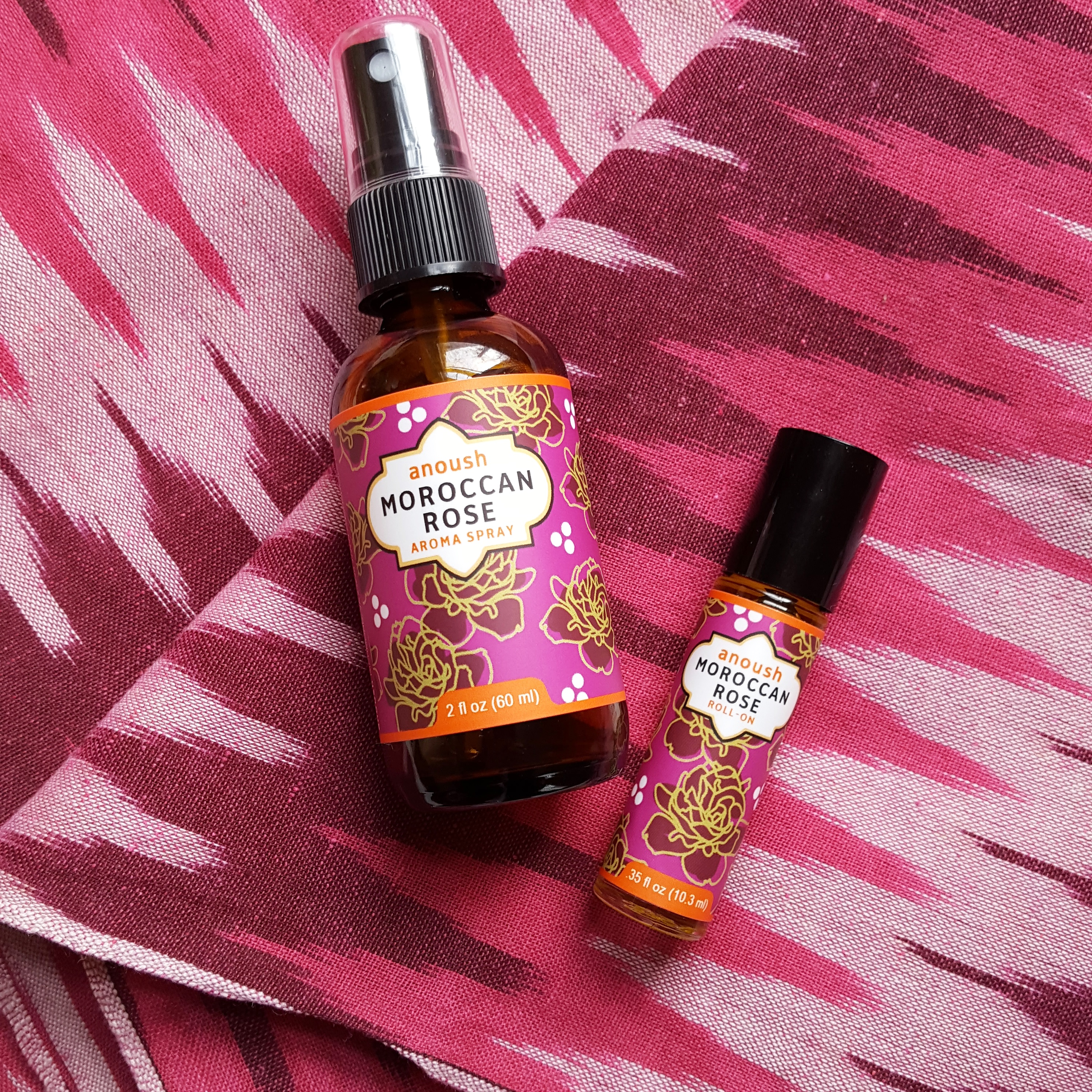 Moroccan Rose aromatherapy roll-on and spray