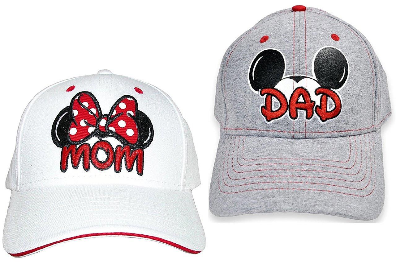 Disney Dad Mickey   Mom Minnie Hats Baseball Caps Men s Women s ... f10086a3c8c2