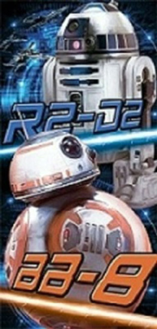 BB-8 and R2-D2 Star Wars Droid Duo Beach Towel