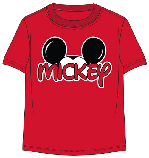 Disney Mickey Mouse Boys Family T Shirt Red